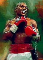 Floyd Mayweather Jr. Art by Edward Vela