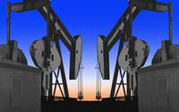 Oilfield-Dramatic Industrial Abstract Design Art