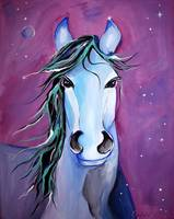 Stellar Whimsical Horse Art by Valentina Miletic