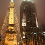 """Monument Circle at Christmas"" by philjern"