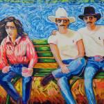 """Spectator Bench LGBT Rodeo"" by BeaconArtWorksCorporation"