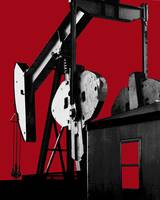 Oil Well Pump-Dramatic Graphic Design Oilfield Art
