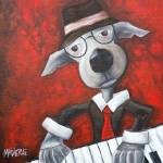 """Jazz Dog"" by jmathernestudio"