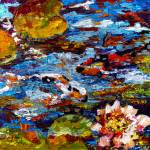 """Impressionist Koi Fish Pond Reflections"" by GinetteCallaway"