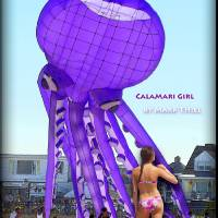 Hampton Beach, NH, Calamari Girl D Art Prints & Posters by Mark Thiel