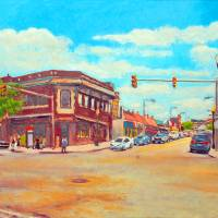 Corner Of Harvard & Brighton Ave Art Prints & Posters by Angelo Aversa