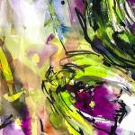 """Abstract Artichoke Intuitive Ink and Watercolor"" by GinetteCallaway"