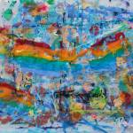 """Gay Pride Parade San Diego Abstract"" by BeaconArtWorksCorporation"