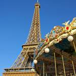 """Eiffel Tower and Carousel Paris France"" by daisyjoan"
