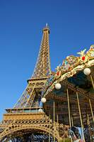 Eiffel Tower and Carousel Paris France