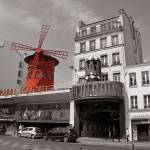 """Moulin Rouge Colorsplash Montmartre Paris France"" by daisyjoan"