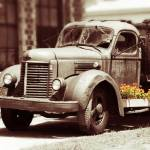 """Vintage Truck and Flower Box Color Splash"" by daisyjoan"