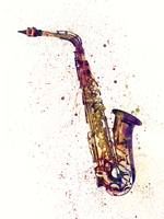Saxophone Abstract Watercolor