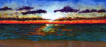 Emerald Coast Florida Seascape Sunrise Painting