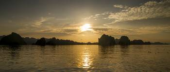Sunset in Halong Bay I