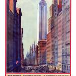 """Vintage New York Travel Poster #5"" by jvorzimmer"