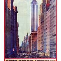 Vintage New York Travel Poster #5 Art Prints & Posters by Jeff Vorzimmer