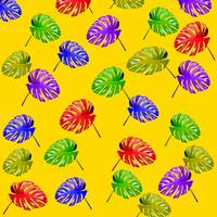 tropical leaves texture yellow
