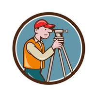 Surveyor Geodetic Engineer Theodolite Circle Carto
