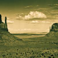 Monument Valley in Sepia Art Prints & Posters by Jarmila Kostliva