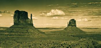Monument Valley in Sepia