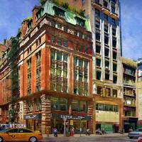 Manhattan Street Scene Art Prints & Posters by Stuart Row