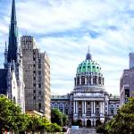 """Harrisburg PA - Capitol Building Seen from State S"" by susansartgallery"