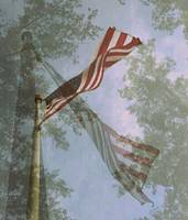 American Flag Triple Exposure
