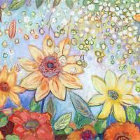 Sunflower Tropics Art Prints & Posters by Jennifer Lommers