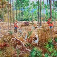 Quail Hunting - Southern Plantation Style Art Prints & Posters by Daniel Butler