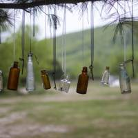 White Pine with Bottles and Keys Art Prints & Posters by Sara Field