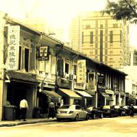 Old Street of Singapore , Kiliney Art Prints & Posters by Stamford Photography and Design