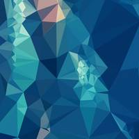 Ball Blue Abstract Low Polygon Background