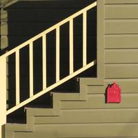 Red Mailbox and Stairs