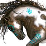 """Pinto Majestic Horse"" by AmyLynBihrle"