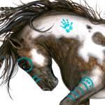 """Pinto Majestic Horse"" by AmyLynBihrle"