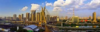 Modern Sao Paulo Skyline - Iconic Cable Stayed Bri