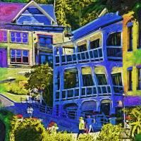Roche Harbor Street Scene Art Prints & Posters by Kirt Tisdale
