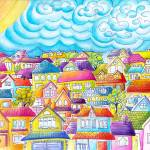 """Whimsical Houses  - ""After The Dust Has Settled"""" by oystudio"