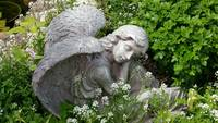 Garden angel in repose