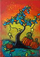 Autumn Celebration III,  Panel 3