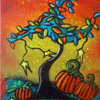 Autumn Celebration III,  Panel 3 Art Prints & Posters by Juli Cady Ryan