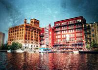 The Milwaukee river buildings