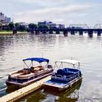 """Harrisburg PA - Walnut St Bridge Seen from City Is"" by susansartgallery"