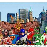 """Justice League Defeats Alien Invasion; New York Ci"" by Automotography"