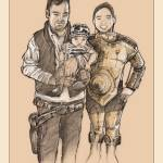 """Chloe and family Star Wars portrait"" by poprelics"