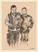 Chloe and family Star Wars portrait
