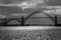 Yaquina Bay Bridge Black And White