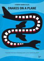 No501 My Snakes on a Plane minimal movie poster
