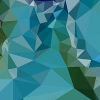 Bright Turquoise Blue Abstract Low Polygon Backgro